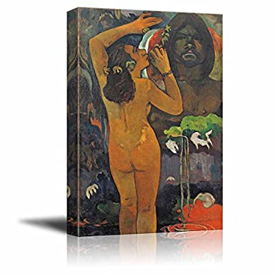 Classic Artwork, Charming Composition, The Moon and The Earth by Paul Gauguin Print Famous Painting Reproduction
