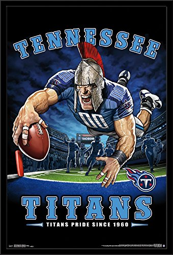 (Trends International Framed Poster Tennessee Titans - End Zone 17 24.25