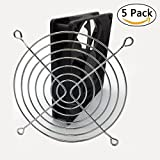 BeTter 5PCS 120mm Wire Silver Fan Grill Guard for Axial Brushless Fan (120mm)