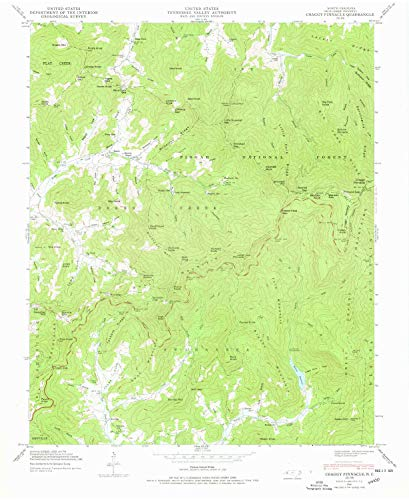 (YellowMaps Craggy Pinnacle NC topo map, 1:24000 Scale, 7.5 X 7.5 Minute, Historical, 1946, Updated 1978, 27 x 22.1 in - Paper)