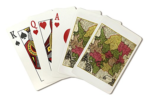 Germany - (1700) - Panoramic Map (Playing Card Deck - 52 Card Poker Size with Jokers)