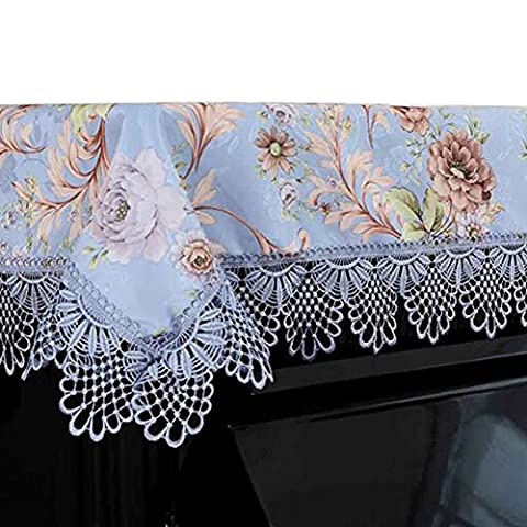 Floral Piano Cover Piano Dust Cover Lace Dust Cover Dustproof Half Piano Cloth (Baby Grand Piano Parts)