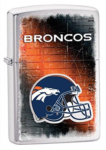 Nfl Lighter Zippo Broncos Denver (Zippo NFL Broncos Lighter, Silver, 5 1/2 x 3 1/2cm)