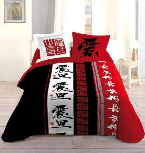 drap housse japonais HOUSSE DE COUETTE 220X240 CM + 2 TO 63X63 CM CHLOE3: Amazon.fr  drap housse japonais