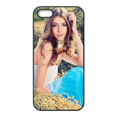 Girl Grass Dress Style Tenderness 69807 coque iPhone 5 5S cellulaire cas coque de téléphone cas téléphone cellulaire noir couvercle EOKXLLNCD23979