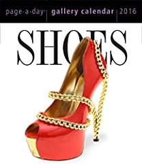 """Slip into something totally fabulous. One of the most popular Page-A-Day calendars year after year, Shoes is 365 days of obsession and bold style. The avant-guarde: Jerome C. Rousseau's laser-cut cork """"Juda"""" peep-toe bogie with a rose ..."""