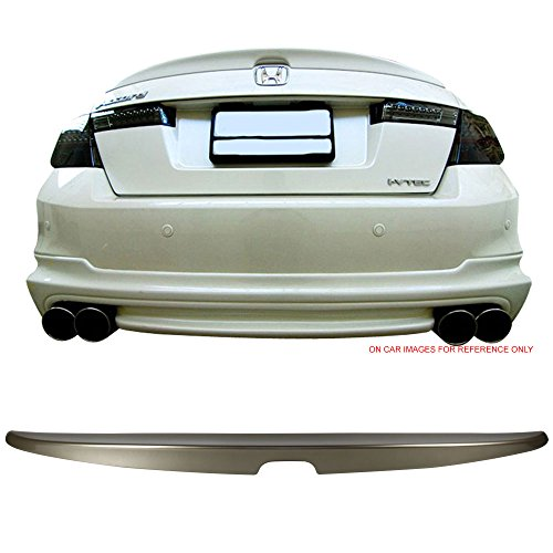 Pre-painted Trunk Spoiler Fits 2008-2012 Honda Accord | OEM Factory Style #YR574M Bold Beige Metallic ABS Rear Boot Deck Lid Roof Wing Replacement other color available by IKON MOTORSPORTS | 2009 2010