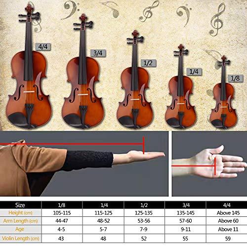 Lovinland 4/4 Acoustic Violin Beginner Violin Full Size with Case Bow Rosin Black by Lovinland (Image #8)