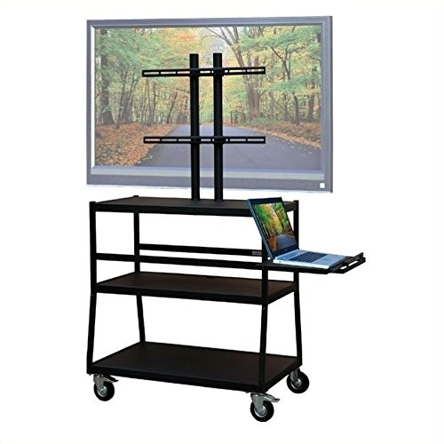 """VTI Wide Body Cart for up to 47"""" Flat Panel TV w/Pull Out Sh"""