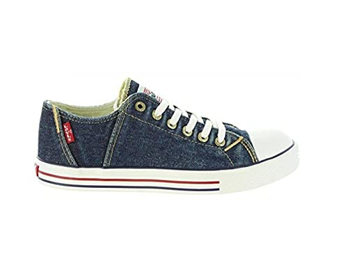 83b317f16109a Levi s Scarpe Kids Sneakers Original RED TAB Low LACE in Tessuto blu  VTRU0084T-BL  Amazon.co.uk  Shoes   Bags