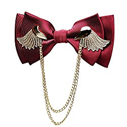 Men's Adjustable Metal Two Layer Bowtie