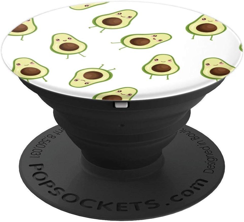 Cute Kawaii Smiling Avocado Fruit Pattern - Foodie Gifts