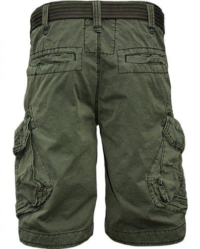 JET era Cargo pantaloncini Take off 3 in Nero, Verde, Grigio, Grigio o oro