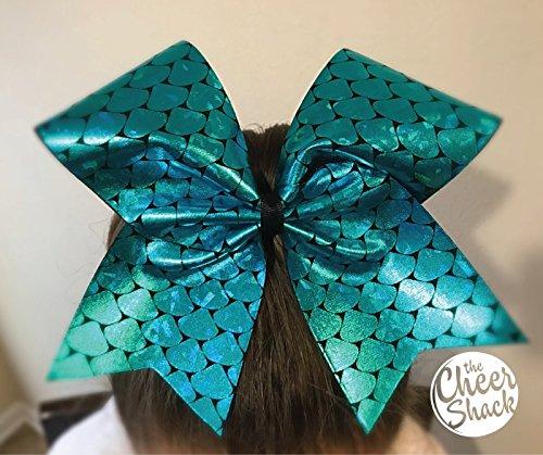 Mermaid Aqua Cheer Bow, Cheer Bow - Image 1
