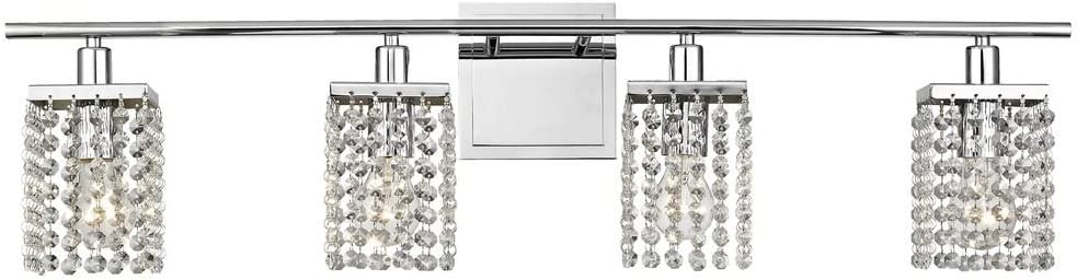 Ashford Classics Lighting Modern 4 Light Crystal Bathroom Vanity Bar Light Amazon Com