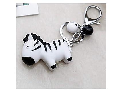 Weilive portachiavi per auto portachiavi zebra simpatico cartone