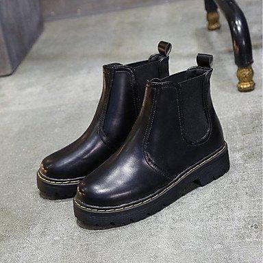 Mujer Gore Botas Marrón Pu Negro CN35 Zapatos US5 For Moda UK3 Gris Claro Puntera Botas Redonda Otoño Planas Calf Casual Confort Tacón 5 De EU36 Botas De RTRY Mid 5 RqTB8wEq