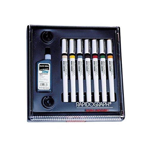 Koh-I-Noor Rapidograph Stainless Steel 7 Pen Artists Set (Rapidograph Stainless Steel 7 Pen)