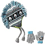 Skr Club Big Boys' Shark Fairisle Mohawk Hat and Glove Set