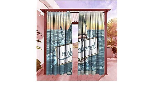 AndyTours Cortina de Bolsillo para Barra de Exterior, diseño de Flores de Cerezo, Ideal para Bodas, Aniversarios, oscurecimiento, Aislamiento térmico, Color Azul y Blanco: Amazon.es: Jardín