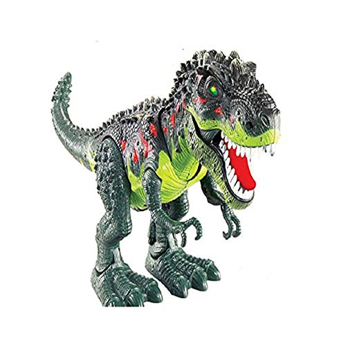 LtrottedJ Kids Toy Walking T-Rex Dinosaur Toy Figure with Lights & Sounds Real Movement -