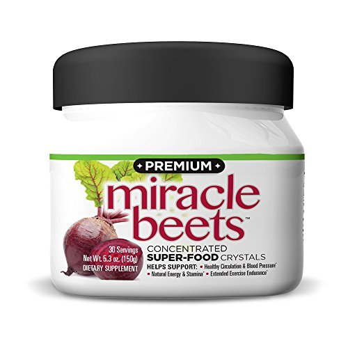 (THINCARE PREMIUM Miracle Beets- Beet Root Powder Concentrate Supplement with Beet Crystals, Supports Circulation, Natural Energy, Blood Pressure,* No Artificial Sweeteners, Caffeine-Free, (5.3 oz.))