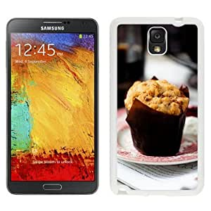 NEW Unique Custom Designed Samsung Galaxy Note 3 N900A N900V N900P N900T Phone Case With Muffin Cake Desert_White Phone Case