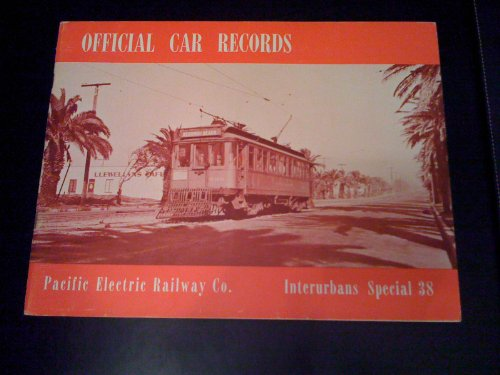 Official Car Records of Pacific Electric Railway Co. for sale  Delivered anywhere in USA
