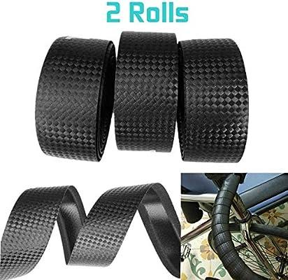 1 Pair Bike Anti-slip Handlebar Tape Cork Bicycle Handle Belt Wrap+2 Bar PlugP