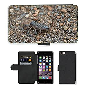 PU LEATHER case coque housse smartphone Flip bag Cover protection // M00133417 Escorpión Insectos África Naturaleza // Apple iPhone 6 PLUS 5.5""