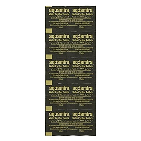 AquaMira Military Water Purifier Tabs, Pack of 10 (Military Water Purification)