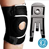 Perfect Posture - Knee Brace Support with Open Patella for ACL, Arthritis, LCL, MCL. Side Stabilizers Non Slip Neoprene. Non Bulky, Adjustable Comfort Fit (1-Count) (Black)