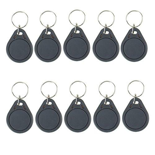 OBO HANDS (Packung von 100) Wasserdicht ABS 13.56MHz ISO14443A MF Classic 1K NFC RFID Token, RFID Keyfob, RFID Tag (100 grau )