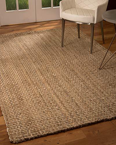 Natural Area Rugs 100% Natural Fiber Handmade Basketweave Chunky Conrad Jute Runner Rug (2' 6