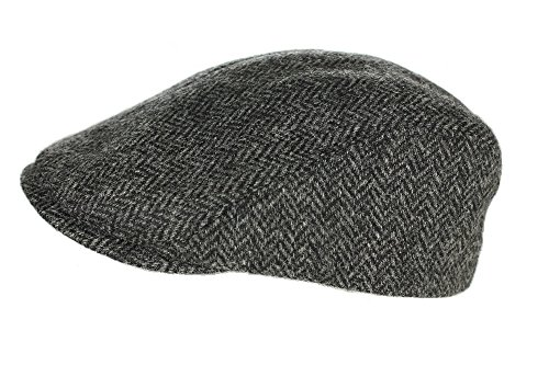 Irish Touring Cap Extended Brim Irish Grey Tweed Formfitting Cap Handcrafted in Ireland Medium