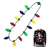 Joyin Toy LED Christmas Bulb Necklace Light Up Party Favors 12 LED Bulbs (1 Pack)