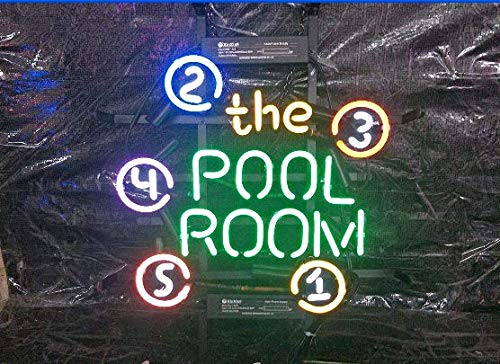 """XPGOODUSA-THE POOL ROOM Neon Sign- 17""""×13"""" for Home Bedroom Garage Decor Wall Light, Striking Neon Sign for Bar Pub Hotel Man Cave Recreational Game Room"""