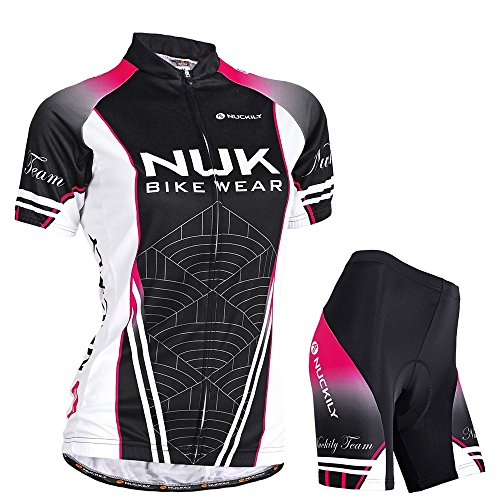NUCKILY Women's Cycling Sublimated Jersey and Stretchable...