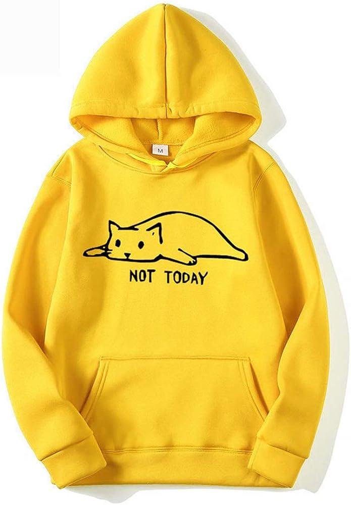 Hoodies Men Not Today Funny Graphic Sweatshirt Men/Women Sweat Unisex Long Sleeve