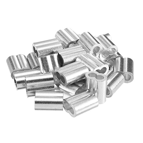 TOOGOO 20pcs 3/8 inch (10mm) Diameter Wire Rope Aluminum Alloy Sleeves Clip Fittings Cable Crimps by Toogoo (Image #1)