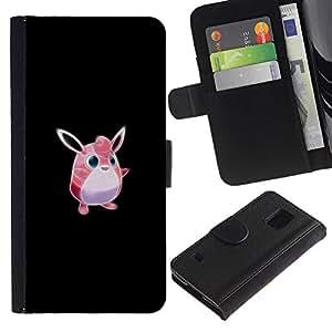 """A-type (Meter monstruo rosado lindo"""") Colorida Impresión Funda Cuero Monedero Caja Bolsa Cubierta Caja Piel Card Slots Para Samsung Galaxy S5 V SM-G900"""