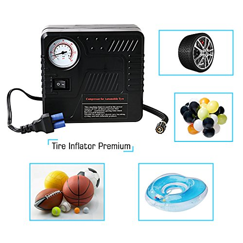 Car Jump Starter 600A Peak Up to 6.0L Gas or 4.5L Diesel Engine Tire Inflator Premium Portable Phone Power Bank Auto Battery Charger Pack Booster with Dual Quick Charge Output Built in LED Light & USB by fustrong (Image #5)