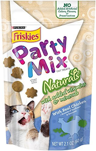 Party Mix Naturals With Added Vitamins & Minerals With Real Chicken & Accents Of Sunflower & Seaweed, 2.1-Ounce Pouch, Pack of 4 Sunflower Accent