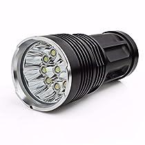フーポット 超高輝度 26000LM 11 x CREE XM-L T6 LED 懐中電灯 led sunspot flash light ハンティング・ランプ 強力 防水 登山 LED 探照ライト 防災グッズ アウトドア 4 x 18650対応