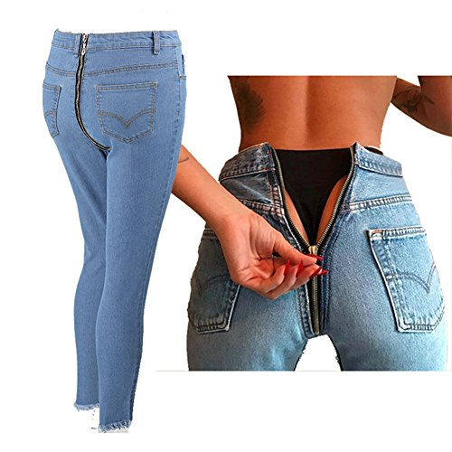 Pantalon Denim Slim Jeans Shorts Skinny Haute Taille Fangcheng Retour Stretch Clair1 Femme Crayon Bleu Sexy Zipper Skinny HUqWBwz5Of
