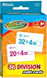 BAZIC Division Flash Cards (36/Pack) 72 pcs sku# 1875753MA