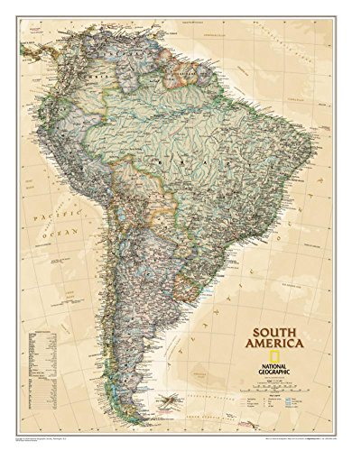 National Geographic South America Executive Style Poster 24 x 30in by National Geographic