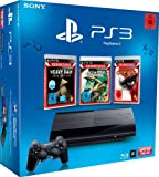 Sony PlayStation 3 - Consola 12 GB incluye 3 juegos(God of War 3 Essentials, Heavy Rain Essentials, Uncharted: Drake's Schicksal Essentials) [Importación alemana]