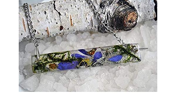 TERRARIUM botanical ring resin flowers petals blue violet dried stones turquoise plants pressed botanical Lavender Moss BGRE022