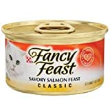 Purina Fancy Feast Classic Savory Salmon Feast Cat Food - (24) 3 oz. Pull-top Can